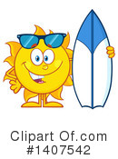 Royalty-Free (RF) Sun Character Clipart Illustration #1407542