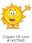 Sun Character Clipart #1407545 by Hit Toon