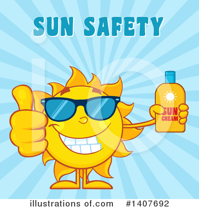 Sun Block Clipart #1407692 by Hit Toon