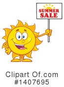 Sun Character Clipart #1407695 by Hit Toon