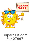 Sun Character Clipart #1407697 by Hit Toon