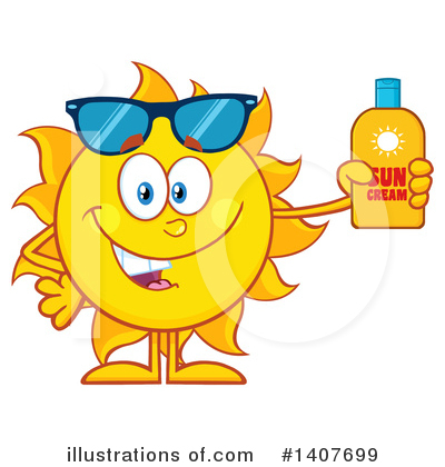 Sun Character Clipart #1407699 by Hit Toon
