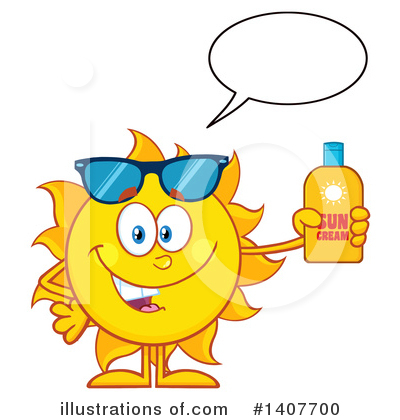 Sunblock Clipart #1407700 by Hit Toon