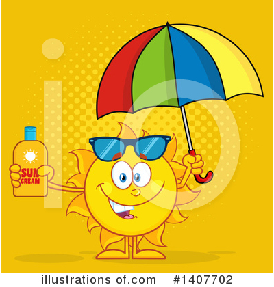 Sunblock Clipart #1407702 by Hit Toon