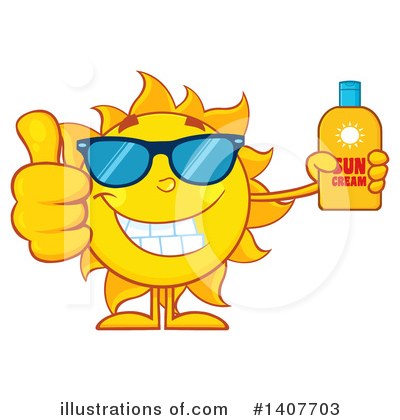 Sun Block Clipart #1407703 by Hit Toon