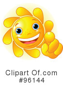 Sun Character Clipart #96144 by Pushkin