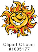 Royalty-Free (RF) Sun Clipart Illustration #1095177