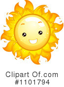 Royalty-Free (RF) Sun Clipart Illustration #1101794