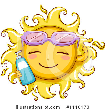 Sun Bathing Clipart #1110173 by BNP Design Studio