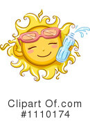 Royalty-Free (RF) Sun Clipart Illustration #1110174