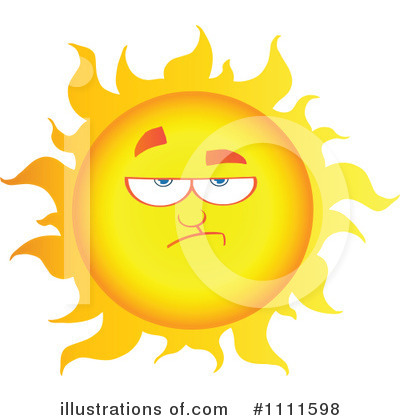 Sun Character Clipart #1111598 by Hit Toon