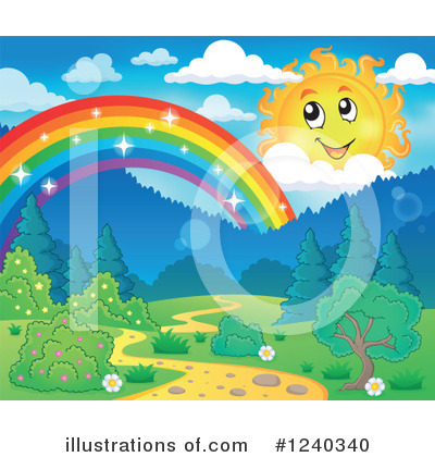 Rainbow Clipart #1240340 by visekart