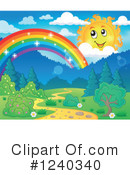 Royalty-Free (RF) Sun Clipart Illustration #1240340