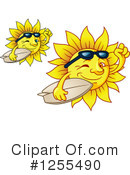 Royalty-Free (RF) Sun Clipart Illustration #1255490