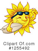 Royalty-Free (RF) Sun Clipart Illustration #1255492