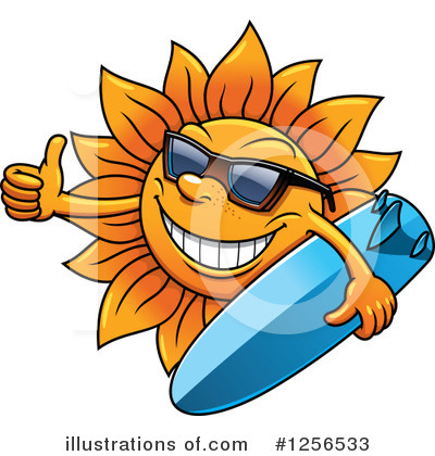 Royalty-Free (RF) Sun Clipart Illustration by Vector Tradition SM - Stock Sample #1256533