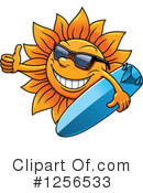Royalty-Free (RF) Sun Clipart Illustration #1256533