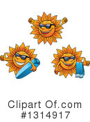 Royalty-Free (RF) Sun Clipart Illustration #1314917