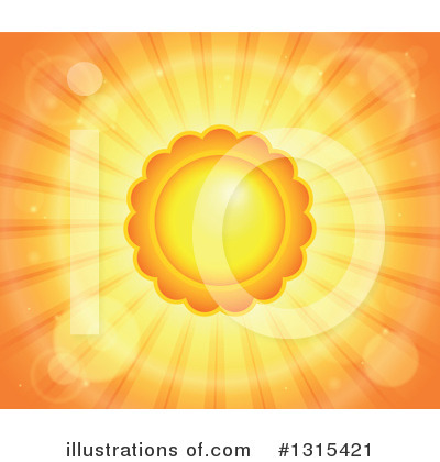 Royalty-Free (RF) Sun Clipart Illustration by visekart - Stock Sample #1315421