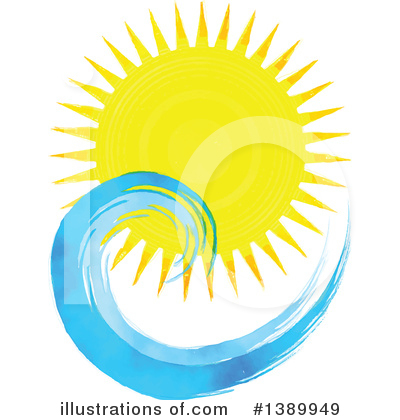 Sunset Clipart #1389949 by KJ Pargeter