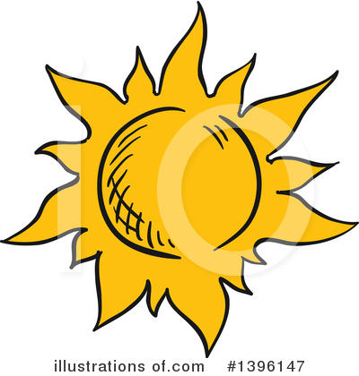 Sun Clipart #1396147 by Vector Tradition SM