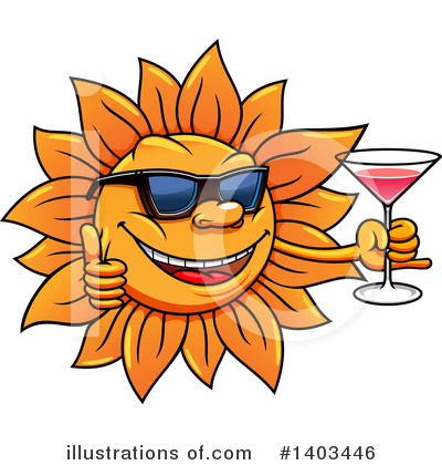 Sun Clipart #1403446 by Vector Tradition SM