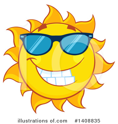 Sun Character Clipart #1408835 by Hit Toon