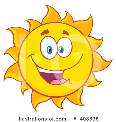 Sun Character Clipart #1408836 by Hit Toon