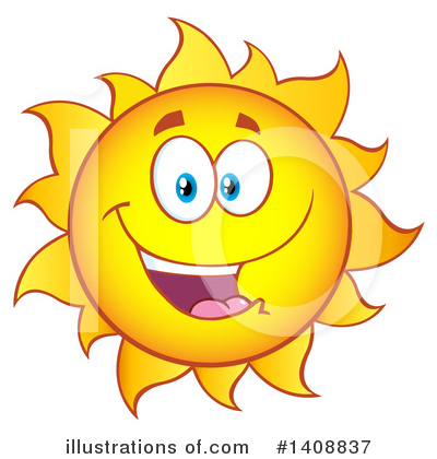 Sun Character Clipart #1408837 by Hit Toon