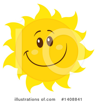 Sun Character Clipart #1408841 by Hit Toon