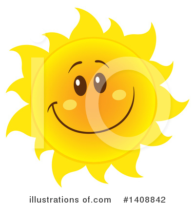 Sun Character Clipart #1408842 by Hit Toon