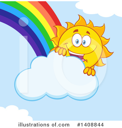 Sun Character Clipart #1408844 by Hit Toon