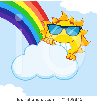 Sun Character Clipart #1408845 by Hit Toon