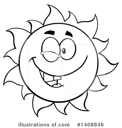Sun Character Clipart #1408846 by Hit Toon