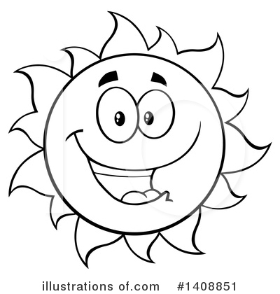 Sun Character Clipart #1408851 by Hit Toon