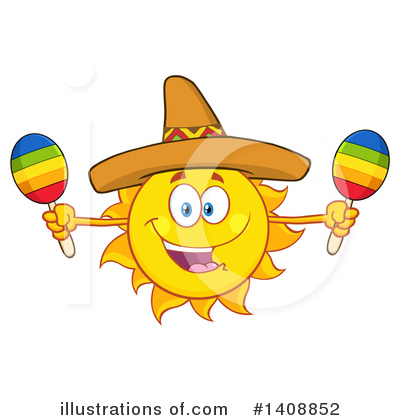 Sun Character Clipart #1408852 by Hit Toon