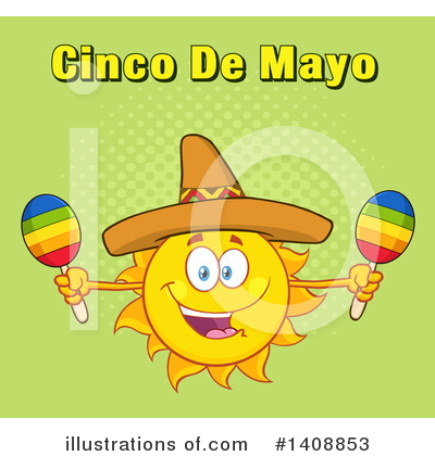 Sun Character Clipart #1408853 by Hit Toon