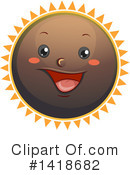 Royalty-Free (RF) Sun Clipart Illustration #1418682