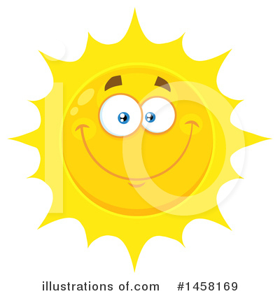 Sun Character Clipart #1458169 by Hit Toon