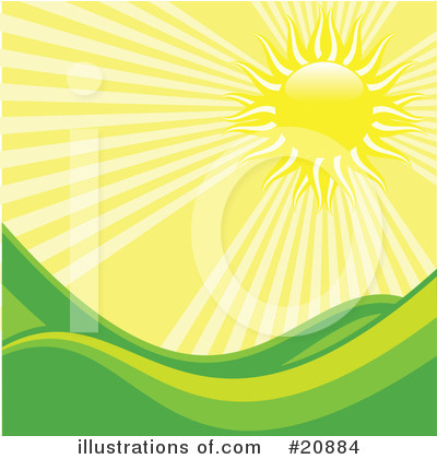 Royalty-Free (RF) Sun Clipart Illustration by elaineitalia - Stock Sample #20884