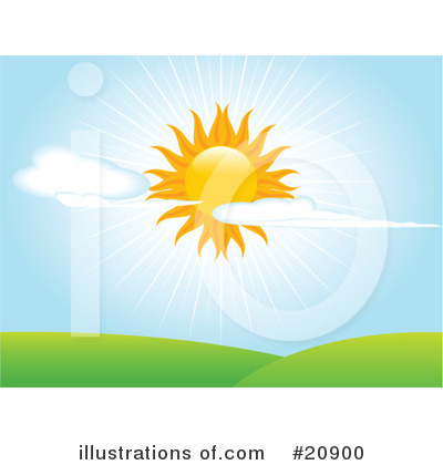 Royalty-Free (RF) Sun Clipart Illustration by Elaine Barker - Stock Sample #20900