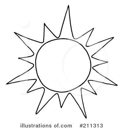 Royalty-Free (RF) Sun Clipart Illustration by Hit Toon - Stock Sample #211313