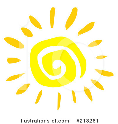 Royalty-Free (RF) Sun Clipart Illustration by Hit Toon - Stock Sample #213281