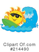 Royalty-Free (RF) Sun Clipart Illustration #214490