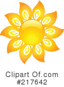 Royalty-Free (RF) Sun Clipart Illustration #217642