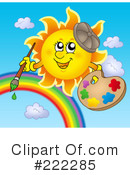 Royalty-Free (RF) Sun Clipart Illustration #222285