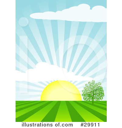 Royalty-Free (RF) Sun Clipart Illustration by Elaine Barker - Stock Sample #29911