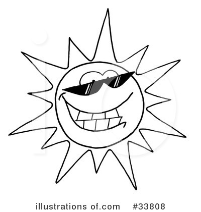 Sun Character Clipart #33808 by Hit Toon