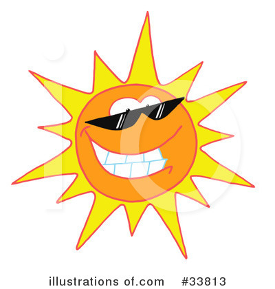 Sun Character Clipart #33813 by Hit Toon