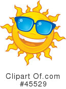 Royalty-Free (RF) Sun Clipart Illustration #45529